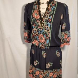 Urban Outfitters Dresses - Urban Outfitters – Angie Black Floral Dress SZ SM